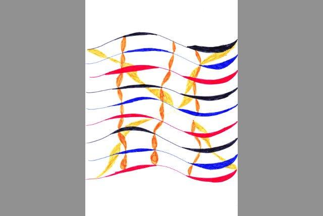 Rollo und Plissee-Design abstrakt