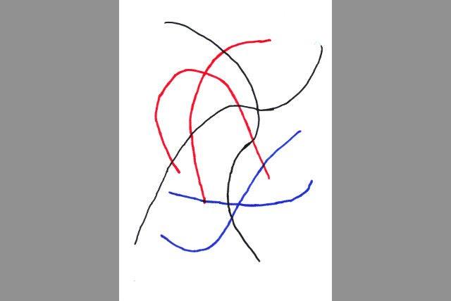Fließendes Muster