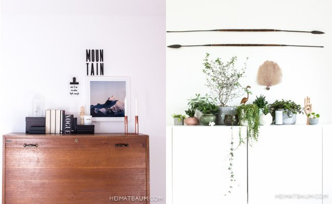 Kommode und Pflanzen