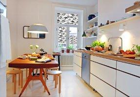 Plissee für Fenster in der Küche