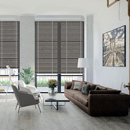 Jalousie Holz 50mm Wohnzimmer