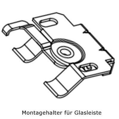 Montage in der Glasleiste - Montagefoto