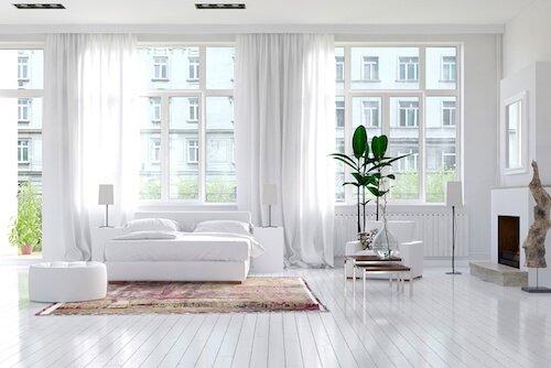 Gardinenschal Schlafzimmer Weiss