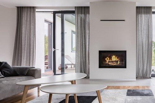 Gardinenschal Wohnzimmer grau