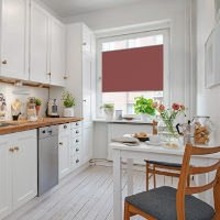 Beispielhafte Wabenplissee Raumsituation für eine Küche