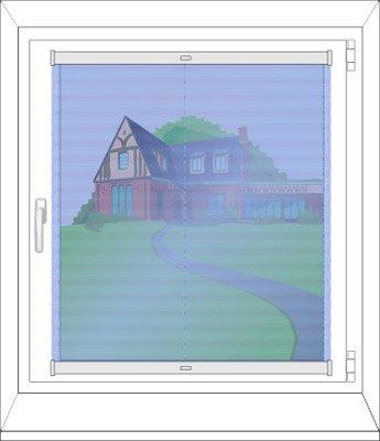 Montage auf dem Fensterflügel mit Winkeln