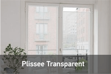 Transparente Plissees