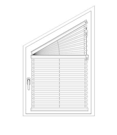 Plissee FS1, FS2 - Messen bei der Montage am Fensterflügel mit Winkeln