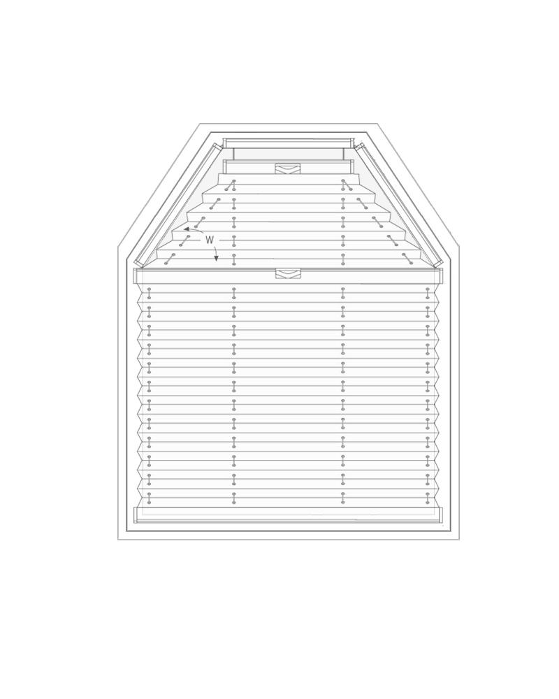 Plissee VS6 / VS6SD - Messen bei der Montage am Fensterflügel mit Winkeln