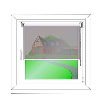 Montage am Fensterflügel - Montagezeichnung