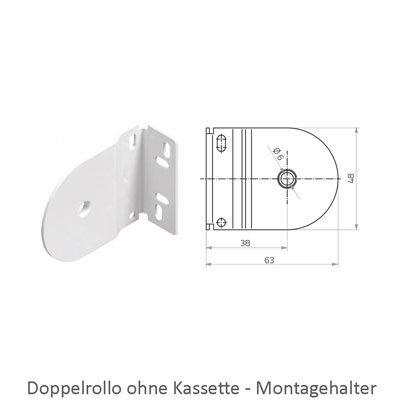 Doppelrollo - Maße Montagehalter
