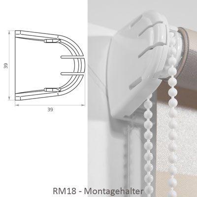 Rollo RM18 Montagehalter mit Abmessungen
