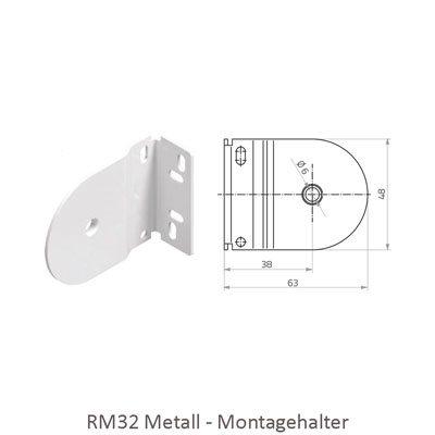 Rollo RM 32 - Abmessungen Montagehalter Metall