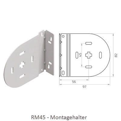 Rollo RM45 - Abmessungen Montagehalter