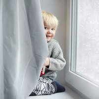 Kinderzimmervorhang mit vielen Schutzfunktionen