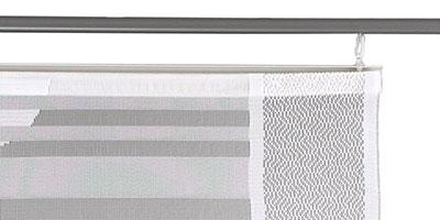 Schiebevorhang Canelli - Montage mit Schiebegleitern