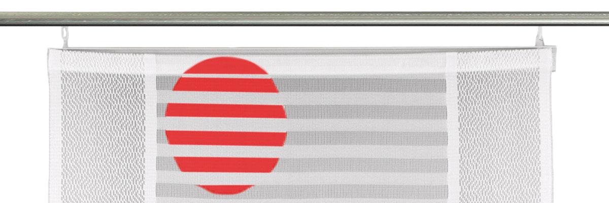 Canelli - halbtransparente Schiebegardine