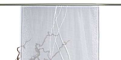Schiebevorhang Ligure - Montage mit Paneelwagen