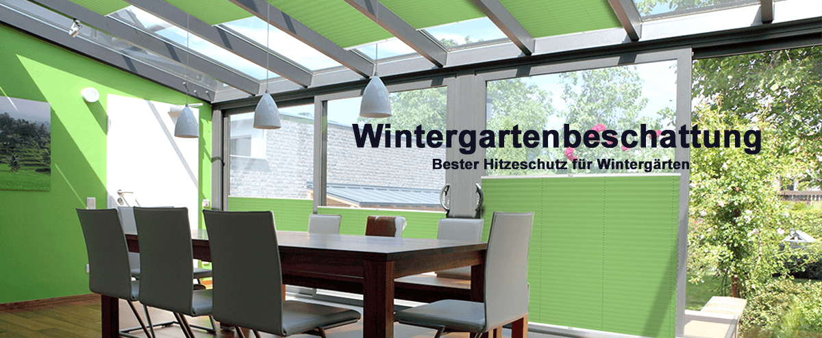 Plissee für die Wintergarten Innenbeschattung