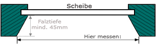 Schräger Falz